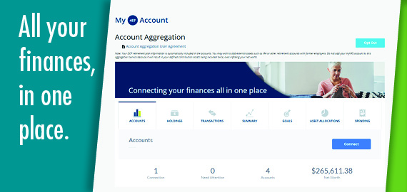 Log in to connect your finances with Account Aggregation